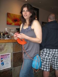 Knitting & Wine Tasting at Moshin Vineyards in Healdsburg, California