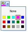 Microsoft Word Highlight Chooser